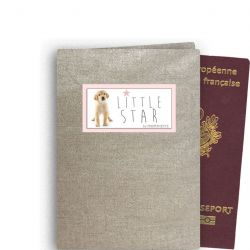 Personalized Passport Case - Shiny Linen