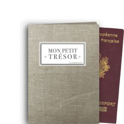 Personalized Passport Protege - Natural Linen