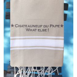 "Linen color Fouta ""Châteauneuf du Pape what else!"""