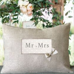 """Mr & Mrs"" Cushion - Wedding Gift"