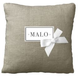 Personalized Cushion - Birth Gift - Linen