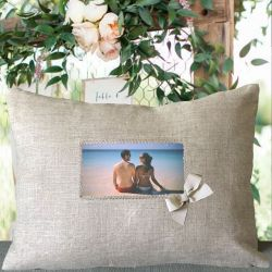 Custom Cushion Linen with photo - rectangular