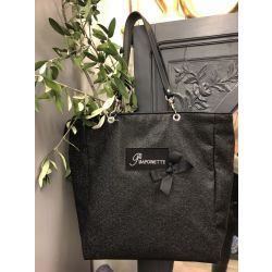 Custom Shopping Bag - Saya Black