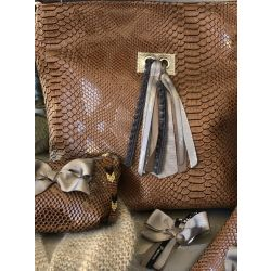 Custom Shoulder Bag - Camel Tasma
