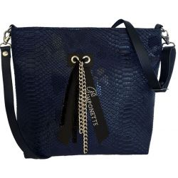 Custom Shoulder Bag - Navy Blue Tasma