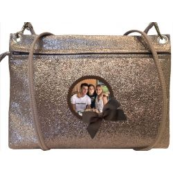 Glittering taupe Custom Pouch Bag