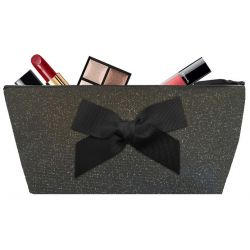 Black glittering Make-up bag