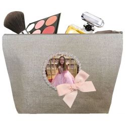Toiletry Bag Woman - Shiny linen