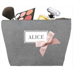 Glittering gray Woman Toilet bag