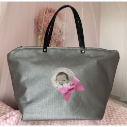 Changing Bag - Grey glittering