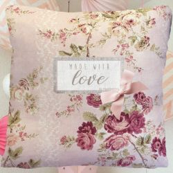 "Child Cushion ""Made with love"" - Flowers"