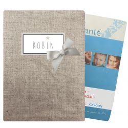 Coated linen Health notebook