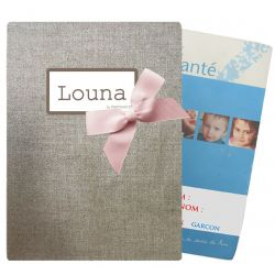 Shiny linen Health notebook