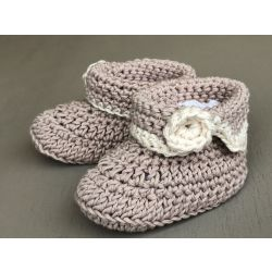 Hand made Knitted Baby Booties