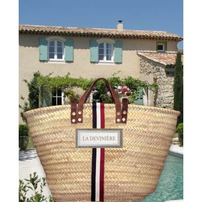 Tricolor basket - Beach basket for men & women - Personalized in the name of the house