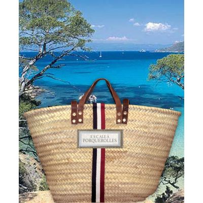 Basket Tricolore - Basket of beach for man & woman - Customized on behalf of the holidays