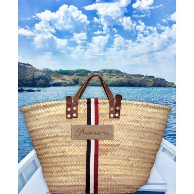 Basket Tricolore - Basket of beach for woman - Pimponette