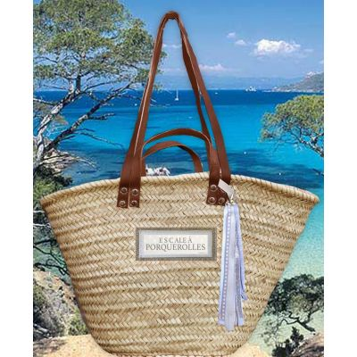 Wicker basket - beach basket - original personalized wedding gift with the destination of their honeymoon