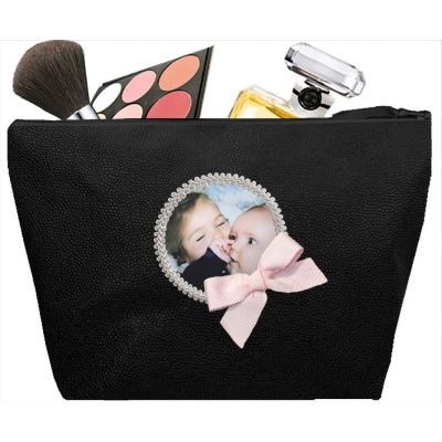 Women's toiletry bag - Personalized kit with your photo - Personalized gift - Saya Black
