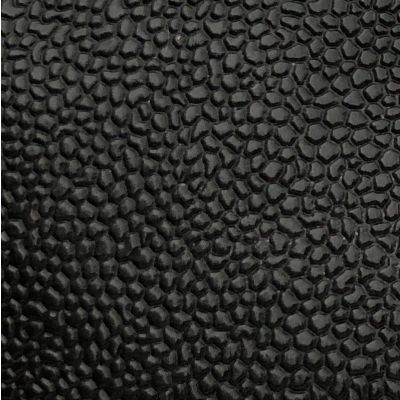 Black glittering plastic coated fabric