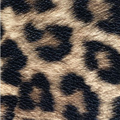 Camel and black animal pattern laminated fabric