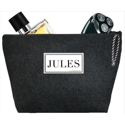 "Men's toiletry bag - Personalized kit ""Polo Sport"" - Personalized gift - Flannel"