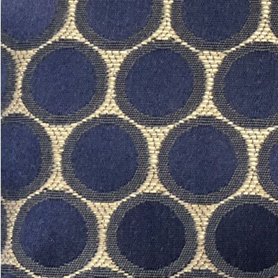 Bubble Fabric - Gold, Navy & Midnight Blue -100% Polyester