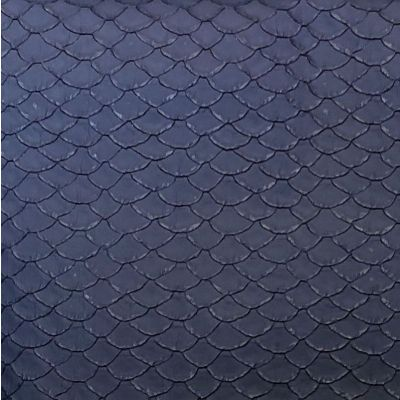 Navy blue plastic shell fabric