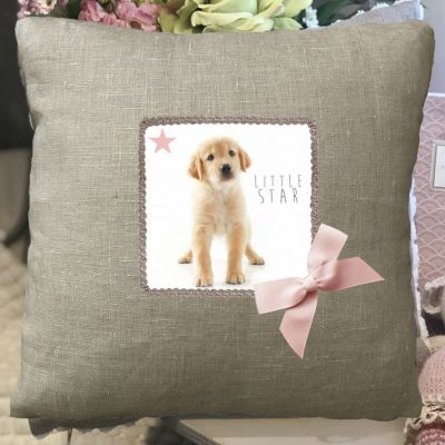 Cushion-cushion Child-personalized pillow-decoration-puppy-Little Star