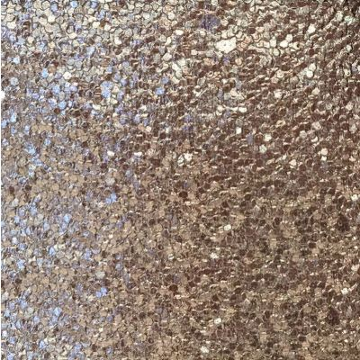 Taupe glitter laminated fabric