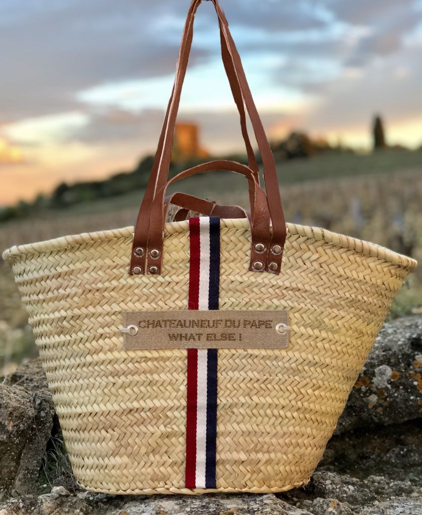 Wicker basket, double handles for a hand carried or shoulder