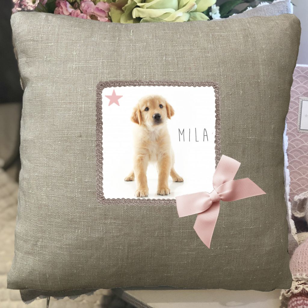 Cushion-cushion Child-personalized pillow-decoration-puppy-Name