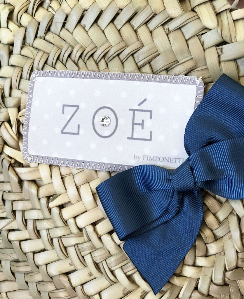 Wicker Basket - Shopping Basket - blue Bow