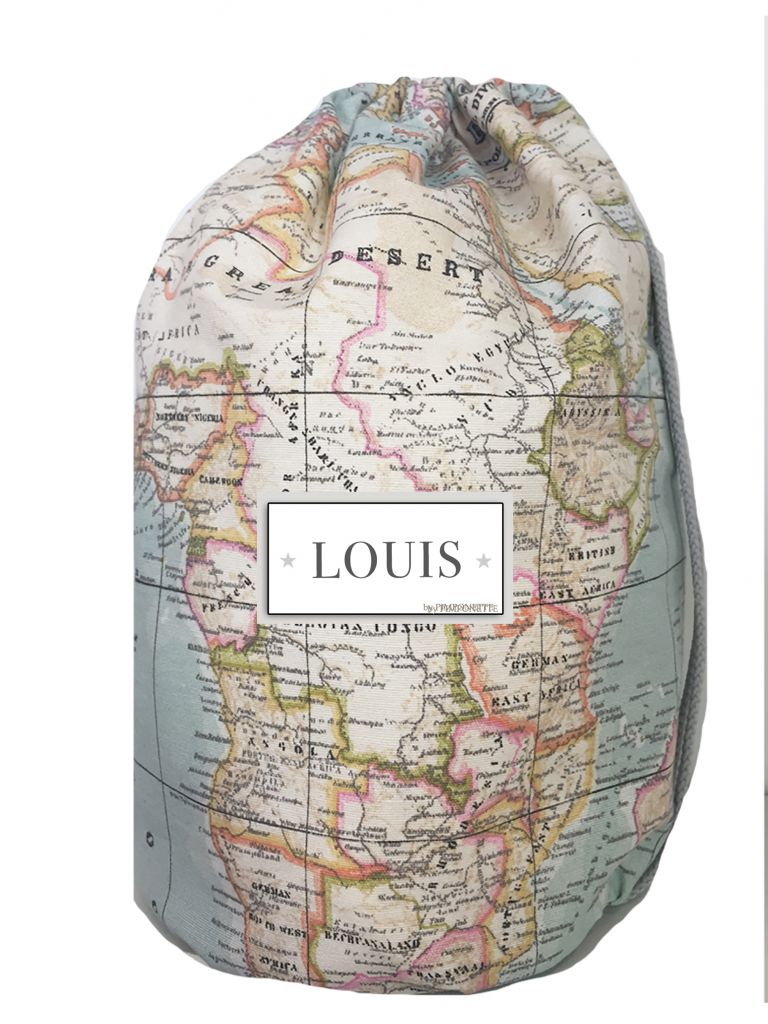 Babys world map backpack produits personnaliser pimponette babys world map backpack personalized with the surname gumiabroncs Gallery